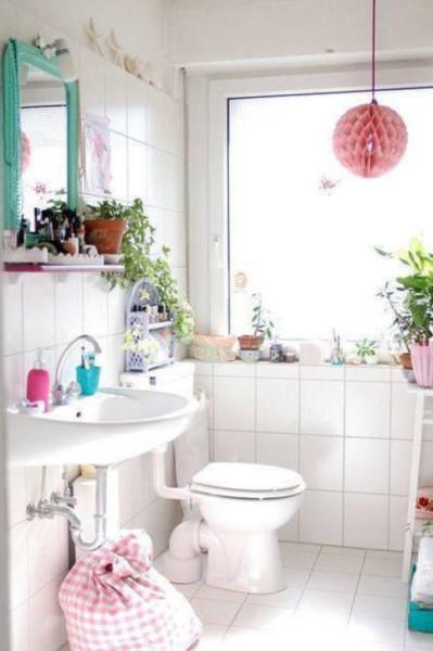 Decoración de baños pequeños estilo Vintage