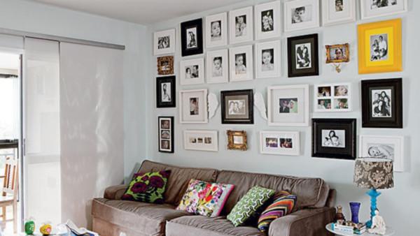 Paredes decoradas con fotos familiares - para colocar fotos en las paredes