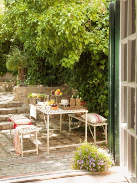 Decoraciones de jardines pequeños exteriores con piedras